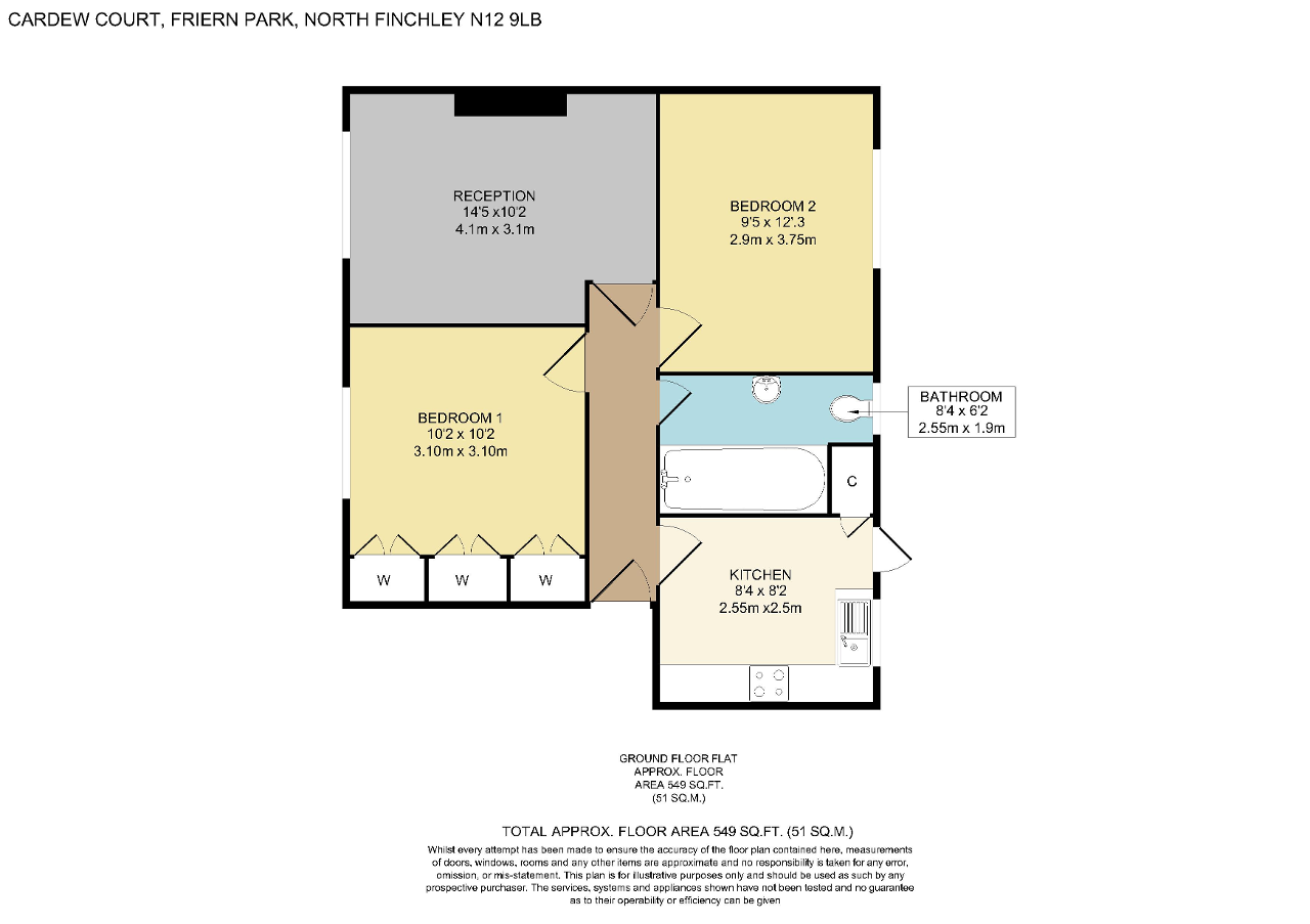 Floorplan of Friern Park, North Finchley, London, N12 9LB